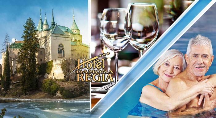 Fotka zľavy: Užite si wellness v Hoteli Regia *** v Bojniciach. Skvelý relaxačný pobyt pre seniorov s masážami, kúpeľmi a polpenziou len na skok od rozprávkového hradu či ZOO.