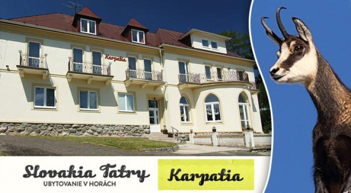 Užite si jar alebo leto vo Vysokých Tatrách v Penzióne Karpatia.