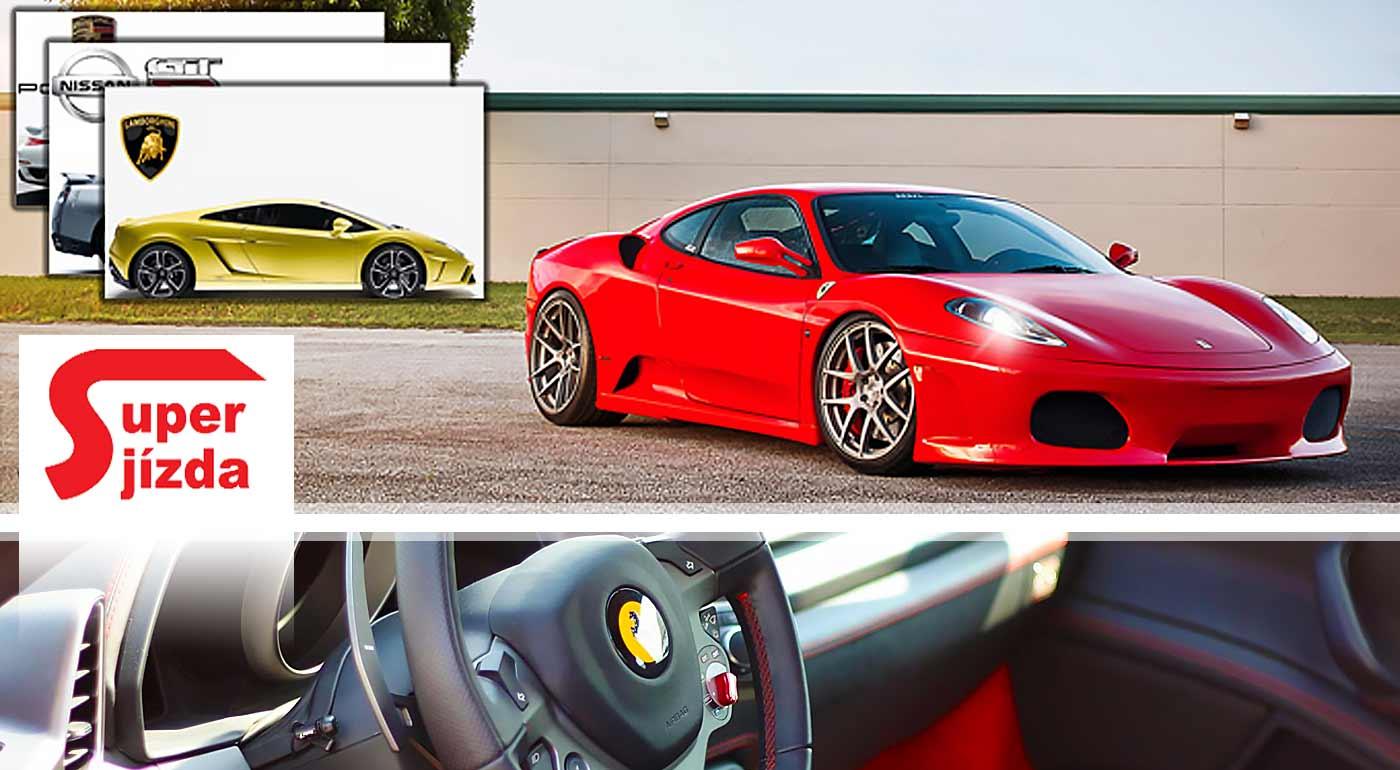 Zážitkové adrenalínové jazdy na nablýskaných žihadlách Ferrari a Lamborghini