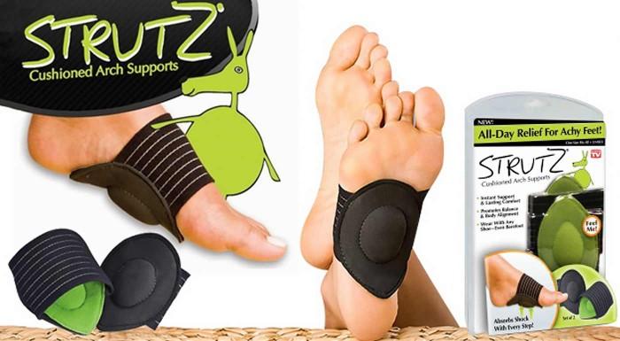 Fotka zľavy: Klenbové podložky Strutz len za 3,69 € zmiernia tlak aktívne a pravidelne namáhaných kĺbov v klenbe vašich nôh a uľavia od bolesti. Obehnite svet s ľahkosťou a bez obmedzení!