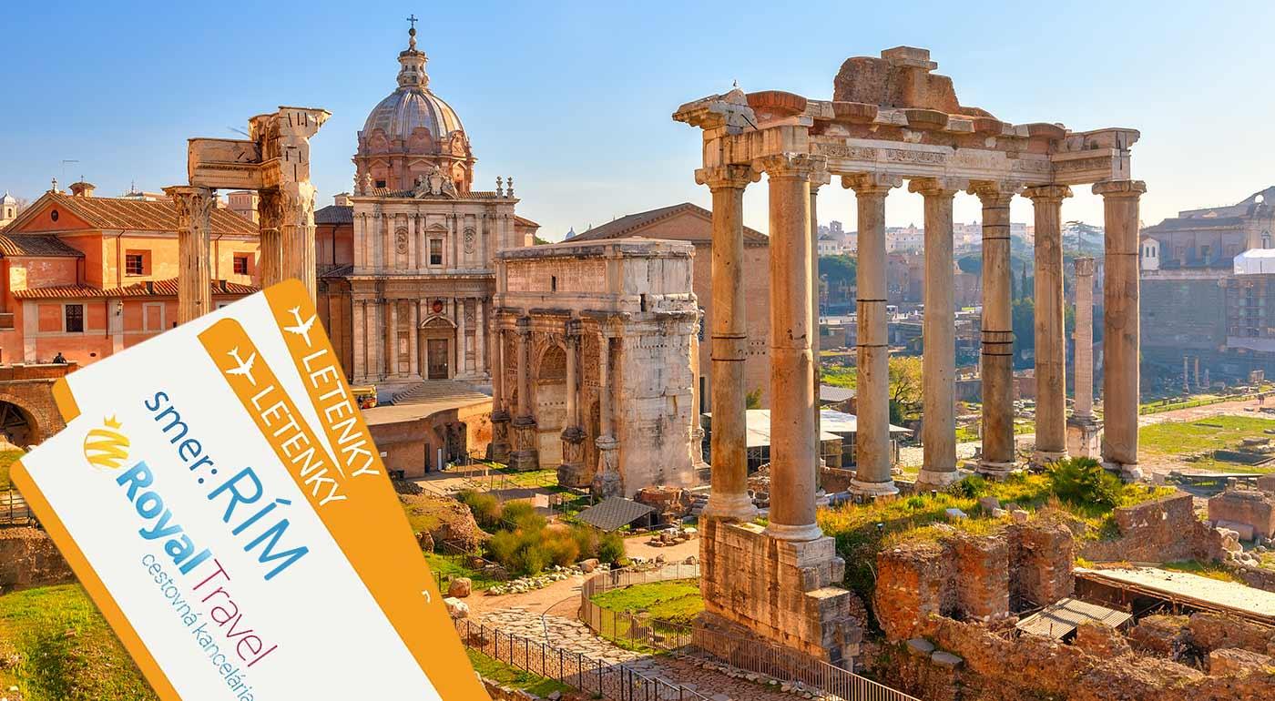 Taliansko: Rím na 5-dňovom leteckom poznávacom zájazde