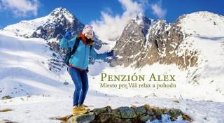 Zľava 35%: Urobte si zimnú pohodu v Tatrách. Prijmite pozvanie do rodinného Penziónu Alex v Novej Lesnej a užite si skvelú lyžovačku aj so zľavami na skipasy.