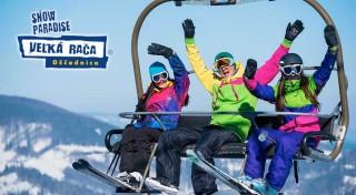 Zľava 50%: Na zimu v lyžiarskom stredisku Snowparadise Veľká Rača len tak nezabudnete. Využite priaznivé ceny VIP sezóniek, denných skipasov alebo si vyskúšajte jazdu ratrakom.