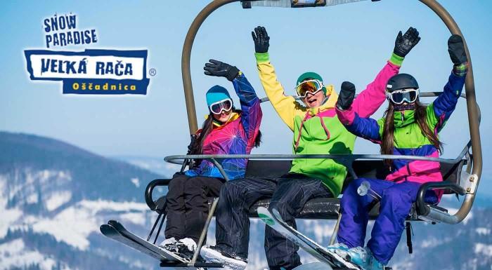 Fotka zľavy: Na zimu v lyžiarskom stredisku Snowparadise Veľká Rača len tak nezabudnete. Využite priaznivé ceny VIP sezóniek, denných skipasov alebo si vyskúšajte jazdu ratrakom.