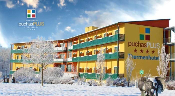Fotka zľavy: Luxusný Thermenhotel PuchasPLUS**** v južnom Rakúsku na 3 či 4 dni s voľným vstupom do termálnych bazénov a sáun s bohatými raňajkami a ďalšími bonusmi. Len 2 hodiny od Bratislavy!