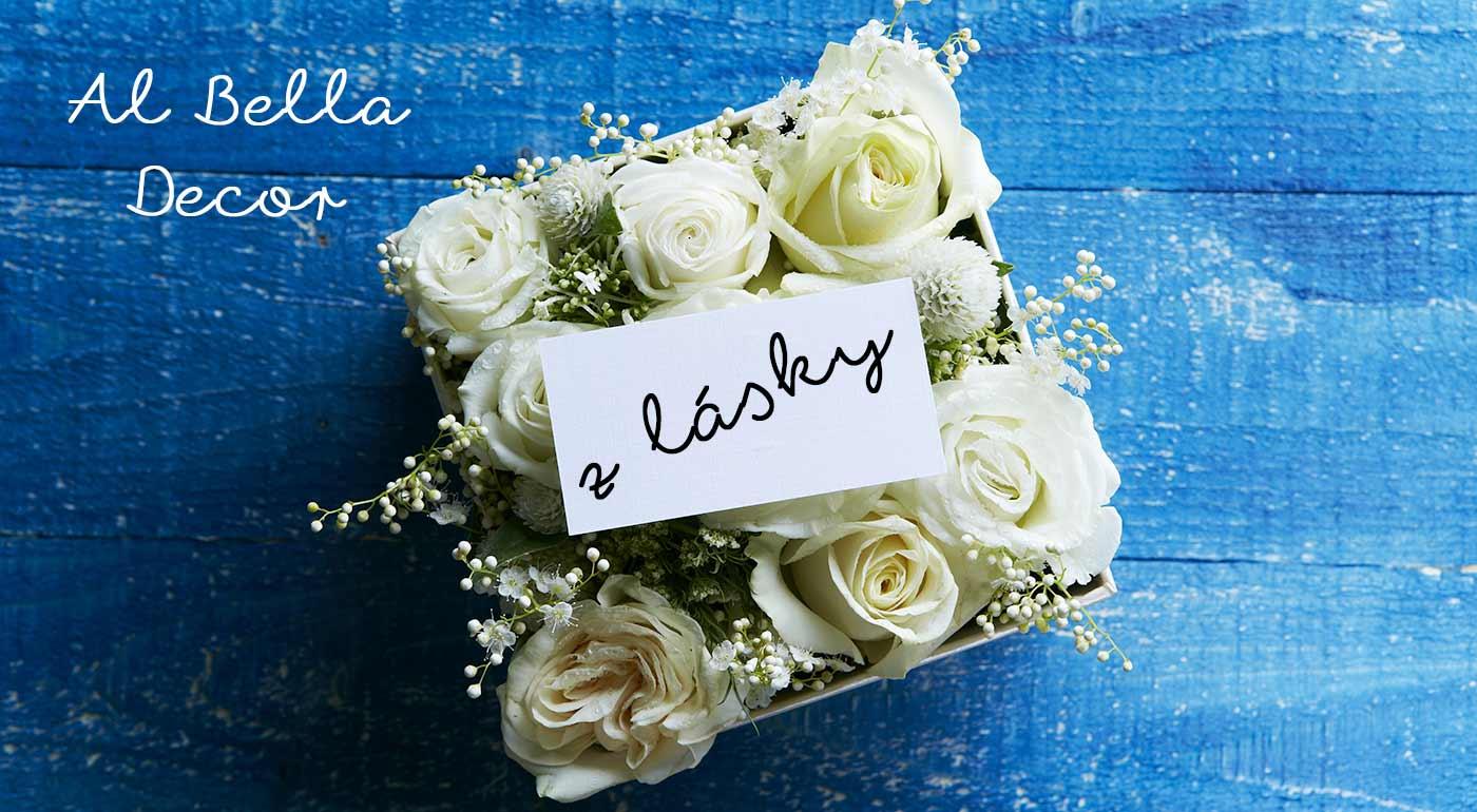 Originálny kvetinový box - romantický valentínsky darček