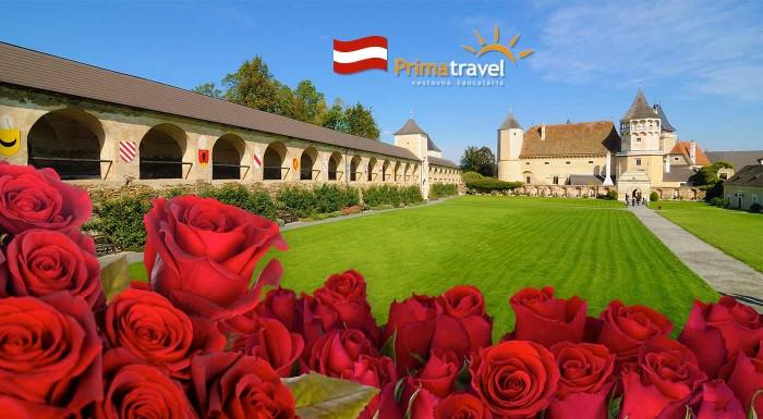 Fotka zľavy: Zámok ruží Rosenburg a Kittenberské záhrady snov. Prežite vydarenú sobotu u susedov v Rakúsku na poznávacom zájazde s CK Prima Travel.