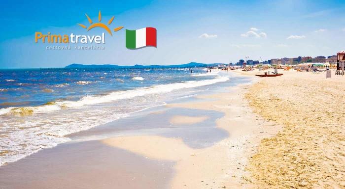 Fotka zľavy: More, slnko, nekonečná piesková pláž a množstvo zábavných parkov - to je jedno z najobľúbenejších talianskych prázdninových letovísk Rimini. Vyberte sa na predĺžený víkend k Jadranu.