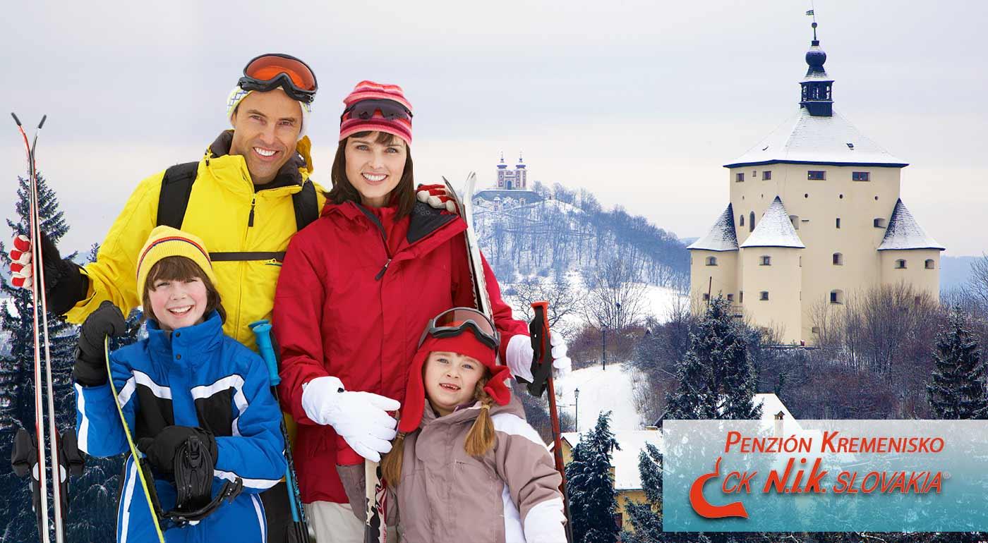 Banská Štiavnica: Oddychová dovolenka s lyžovačkou v penzióne Kremenisko - darujte svojej rodine darček, na ktorý budú dlho spomínať!