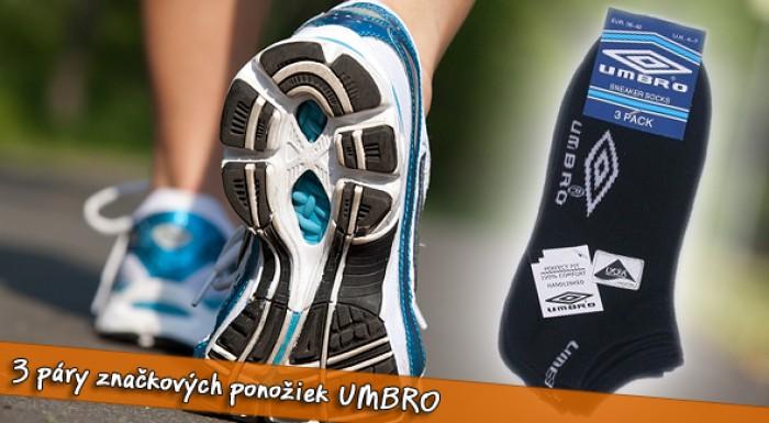 Značkové ponožky UMBRO - výhodné 3-balenie.