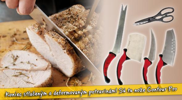 Pomocník do vašej kuchyne - kvalitná sada: nože Contour Pro 10ks.